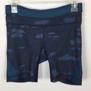 Lululemon Camo Oil Slick Blue Biker Shorts 6